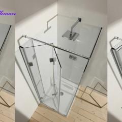 Katlanır Sistem Menteşeli Cam Duş Kabini